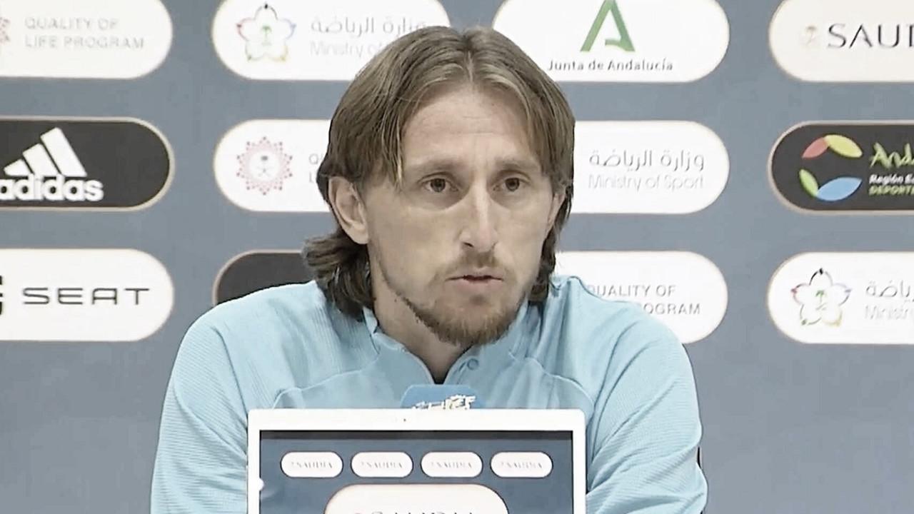 """Luka Modric: """"Vamos a dar lo mejor para llegar a la final y pelear el título"""""""
