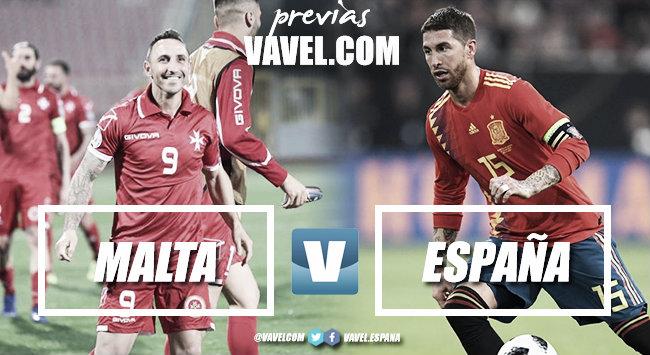 Previa Malta vs España: tres puntos de obligación