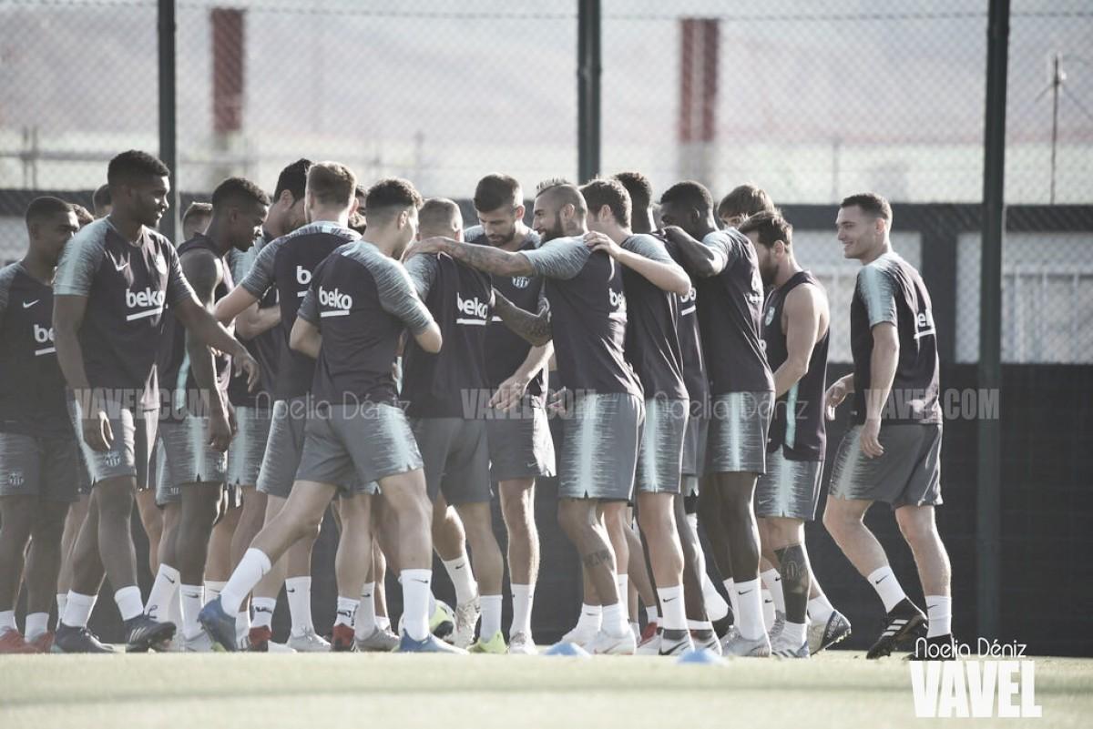 Fotos e imágenes del entrenamiento previo a la Supercopa de España