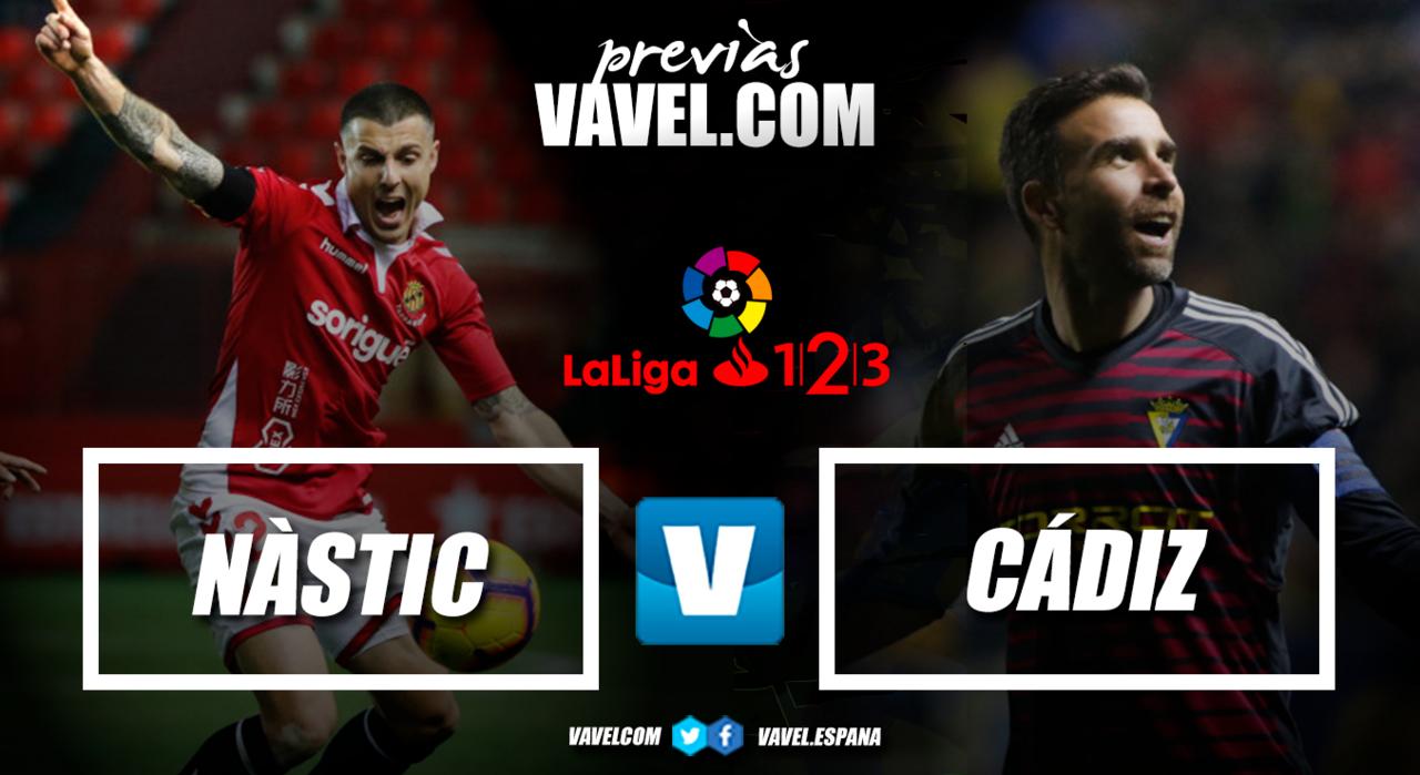 Previa Nástic - Cádiz CF: Tres puntos para entrar en playoff