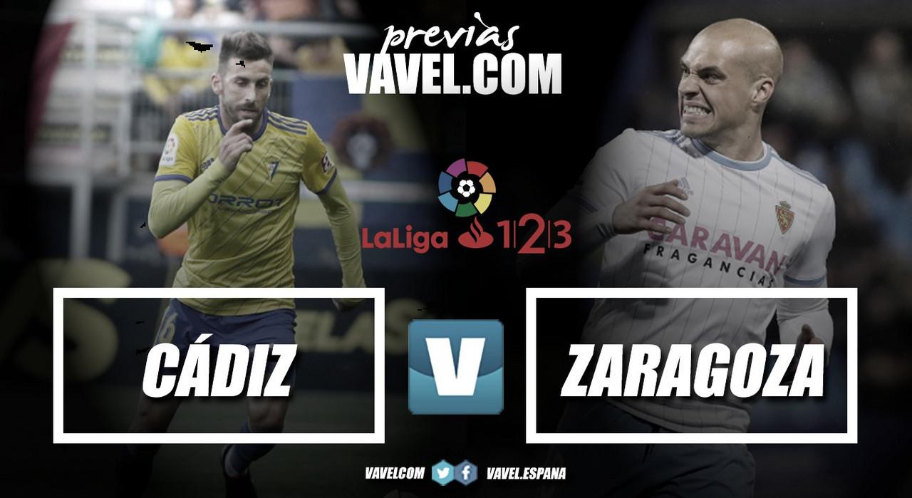 Previa Cádiz - Real Zaragoza: los amarillos necesitan la victoria para seguir soñando
