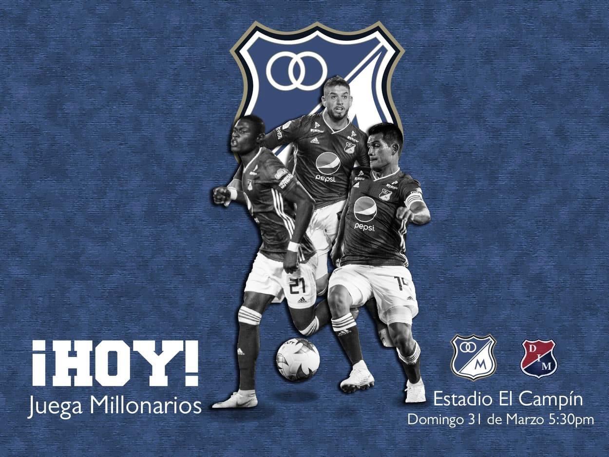 Confirmada la lista de convocados de Millonarios para el partido VS Independiente Medellín