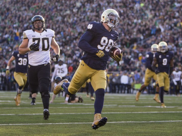 Notre Dame Fighting Irish Take Down Wake Forest Demon Deacons 28-7