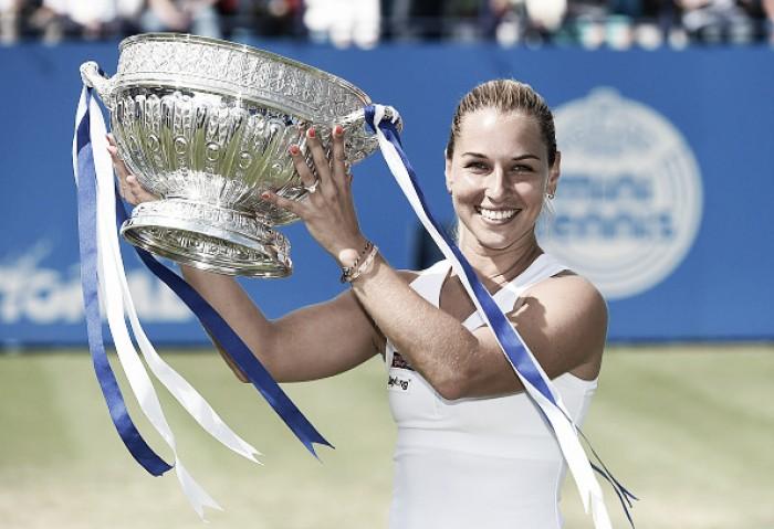 Cibulkova encerra semana brilhante com título em Eastbourne sobre Pliskova