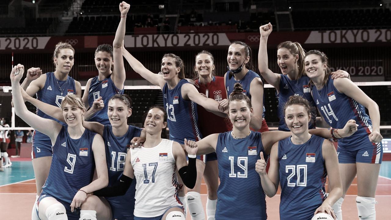 Pontos e melhores momentos de Sérvia 0x3 Estados Unidos vôlei feminino pelas Olimpíadas de Tóquio 2020