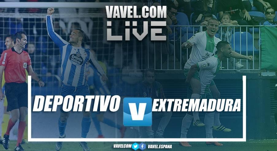 Resumen del Deportivo de la Coruña 1-2 Extremadura en LaLiga 1|2|3 2018-19