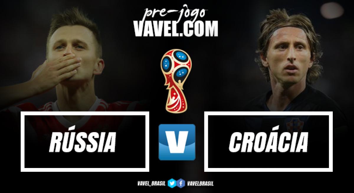 Surpresas, Rússia e Croácia duelam em busca de vaga na semifinal