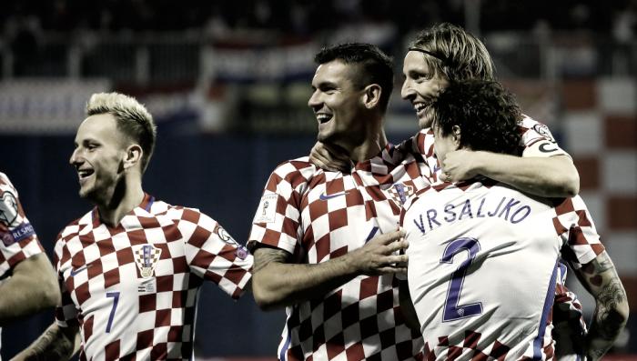 Luka Modric con pie y medio en Rusia