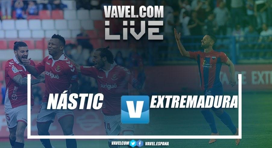 Resumen del Nástic 0-1 Extremadura en vivo y en directo online en LaLiga 1|2|3 2018-19