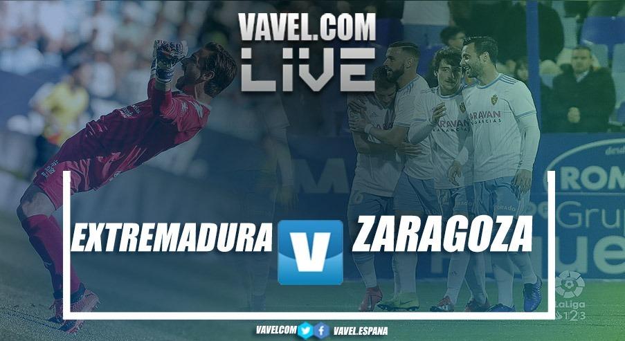 Resumen del Extremadura UD 0-3 Real Zaragoza en LaLiga 1|2|3 2018-