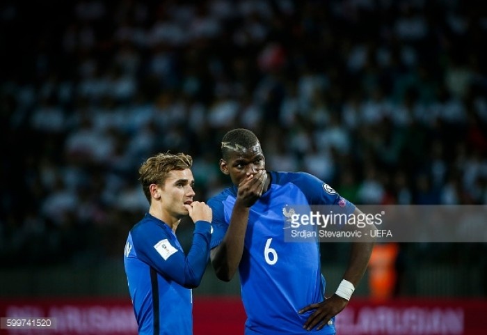 Griezmann hopes to play alongside Manchester United's Pogba at club level