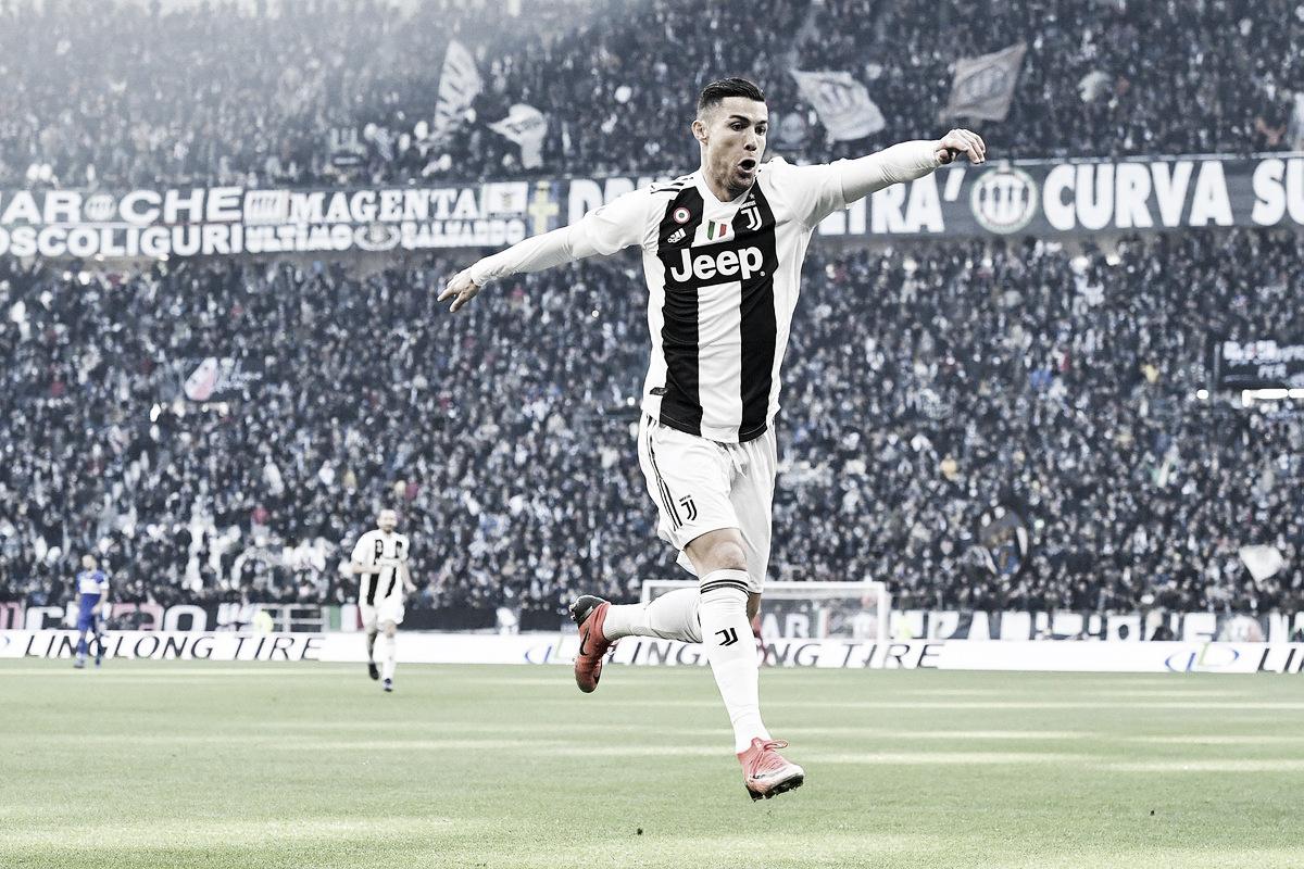 Juventus bate Sampdoria com dois gols de Ronaldo e influência decisiva do VAR