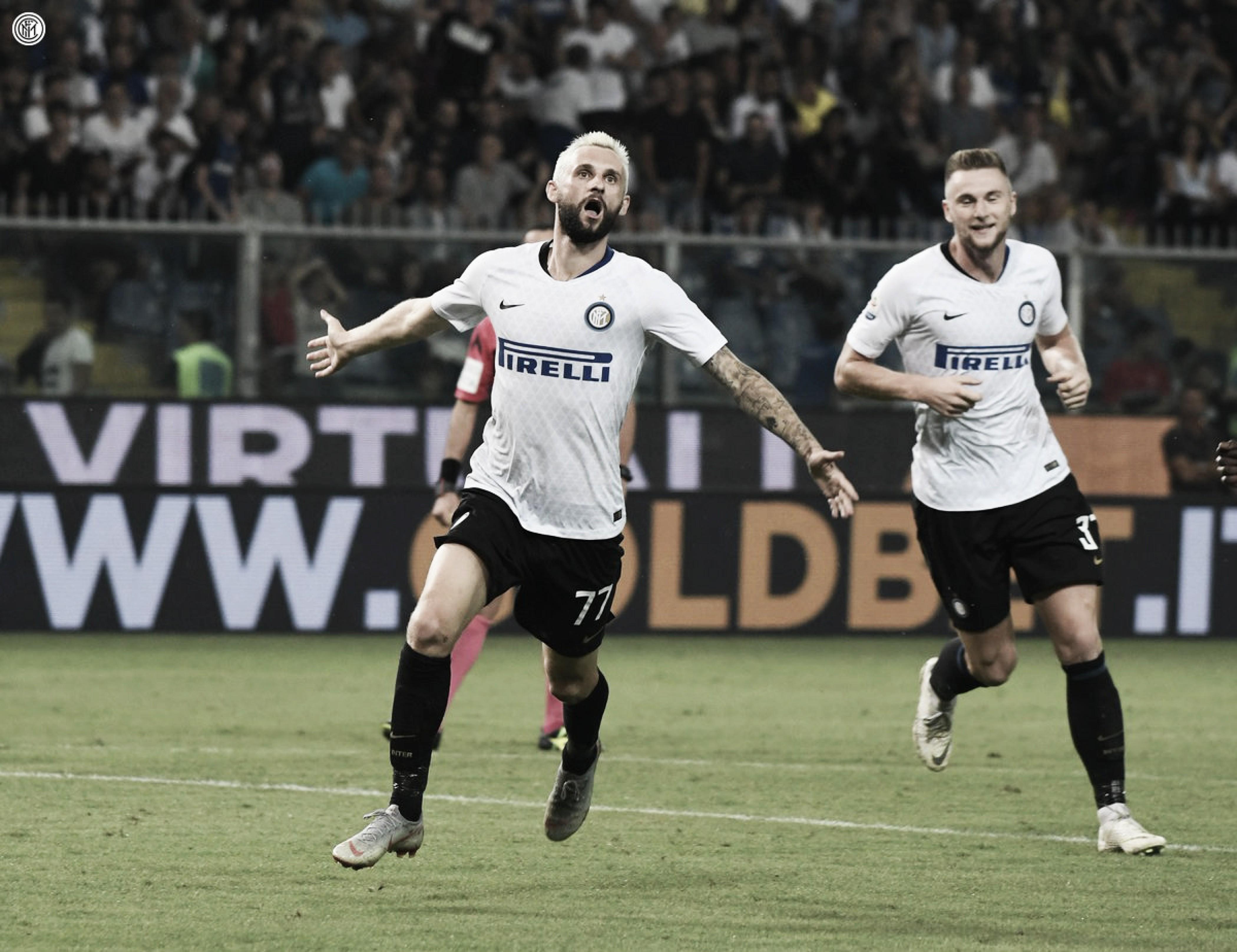 Brozovic marca nos acréscimos e Inter bate Sampdoria em jogo marcado por atuação do VAR