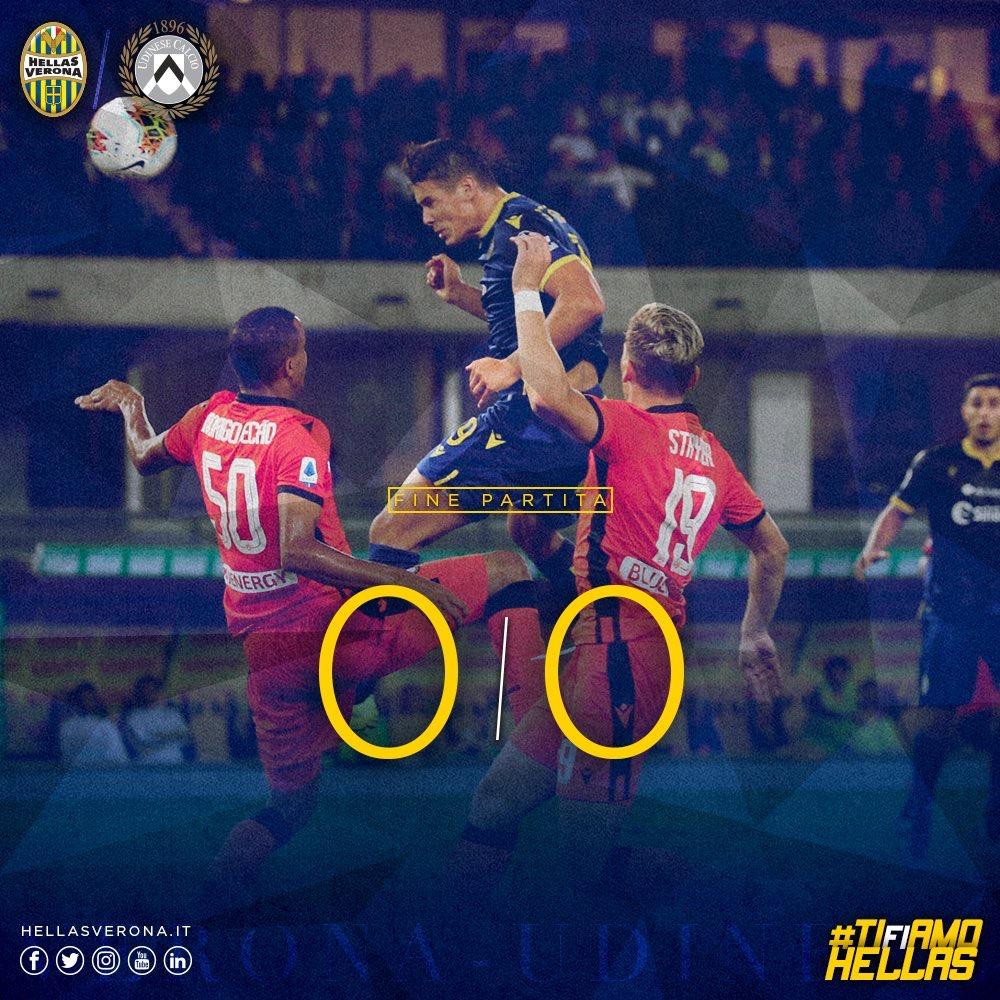 Serie A- Pareggio a reti bianche tra Hellas ed Udinese, Musso decisivo (0-0)