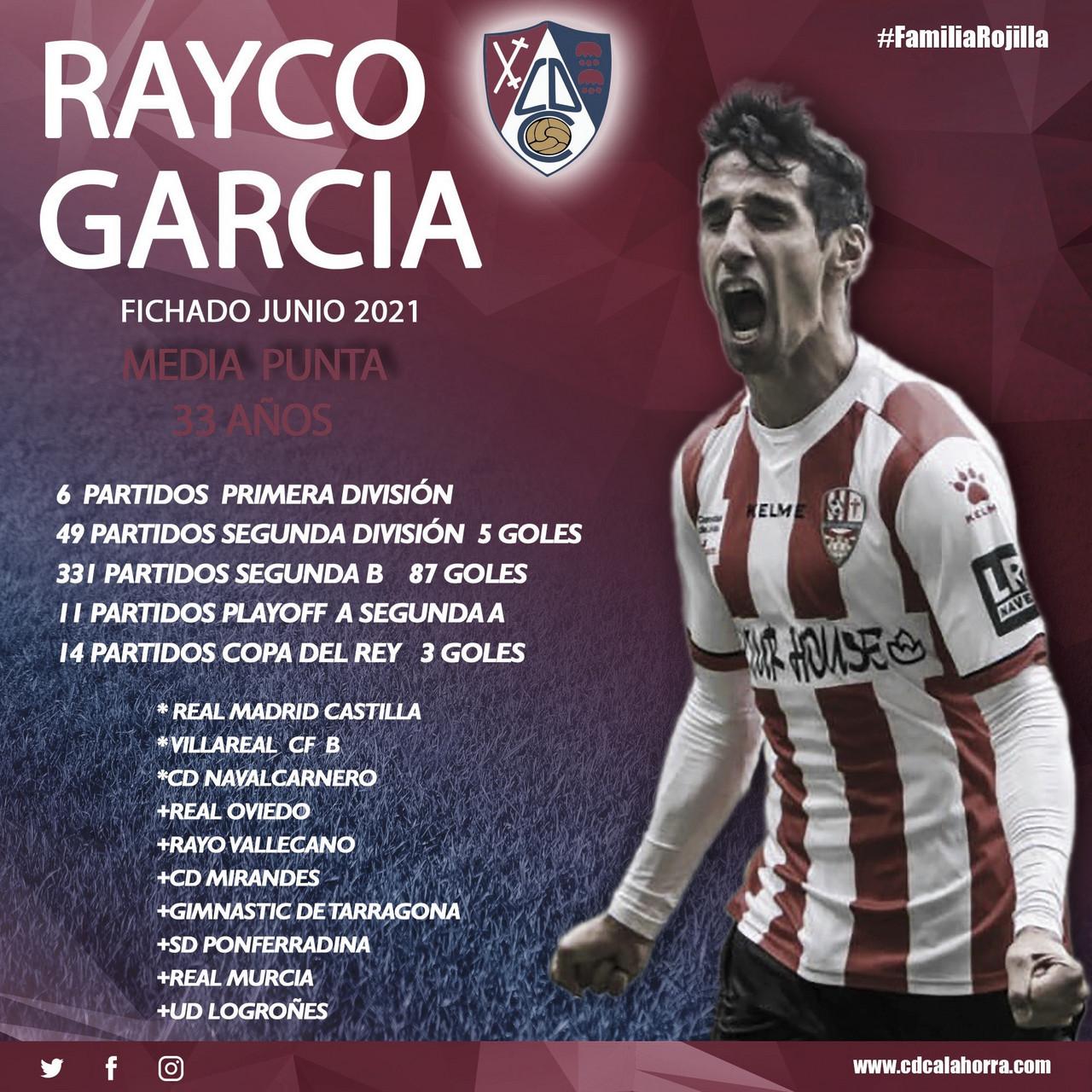Rayco García, canterano blanco, firma por el CD Calahorra
