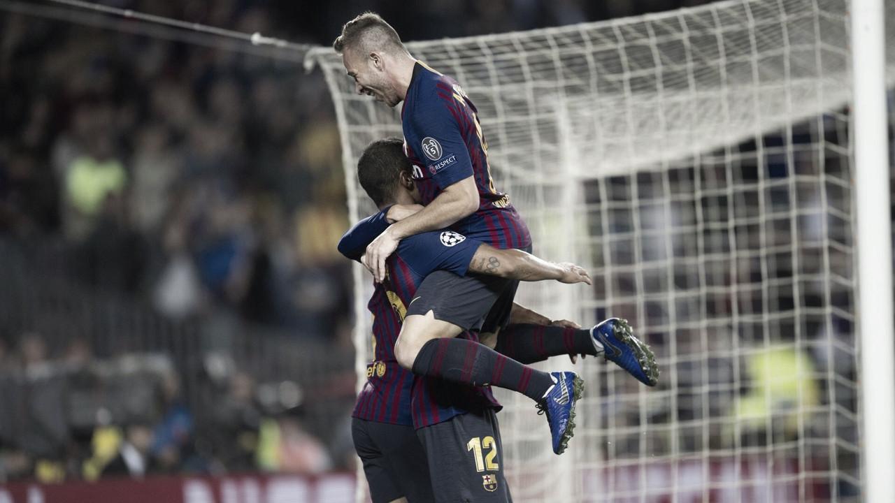 Barcelona vence Inter de Milão e mantém campanha de 100% de aproveitamento na UCL