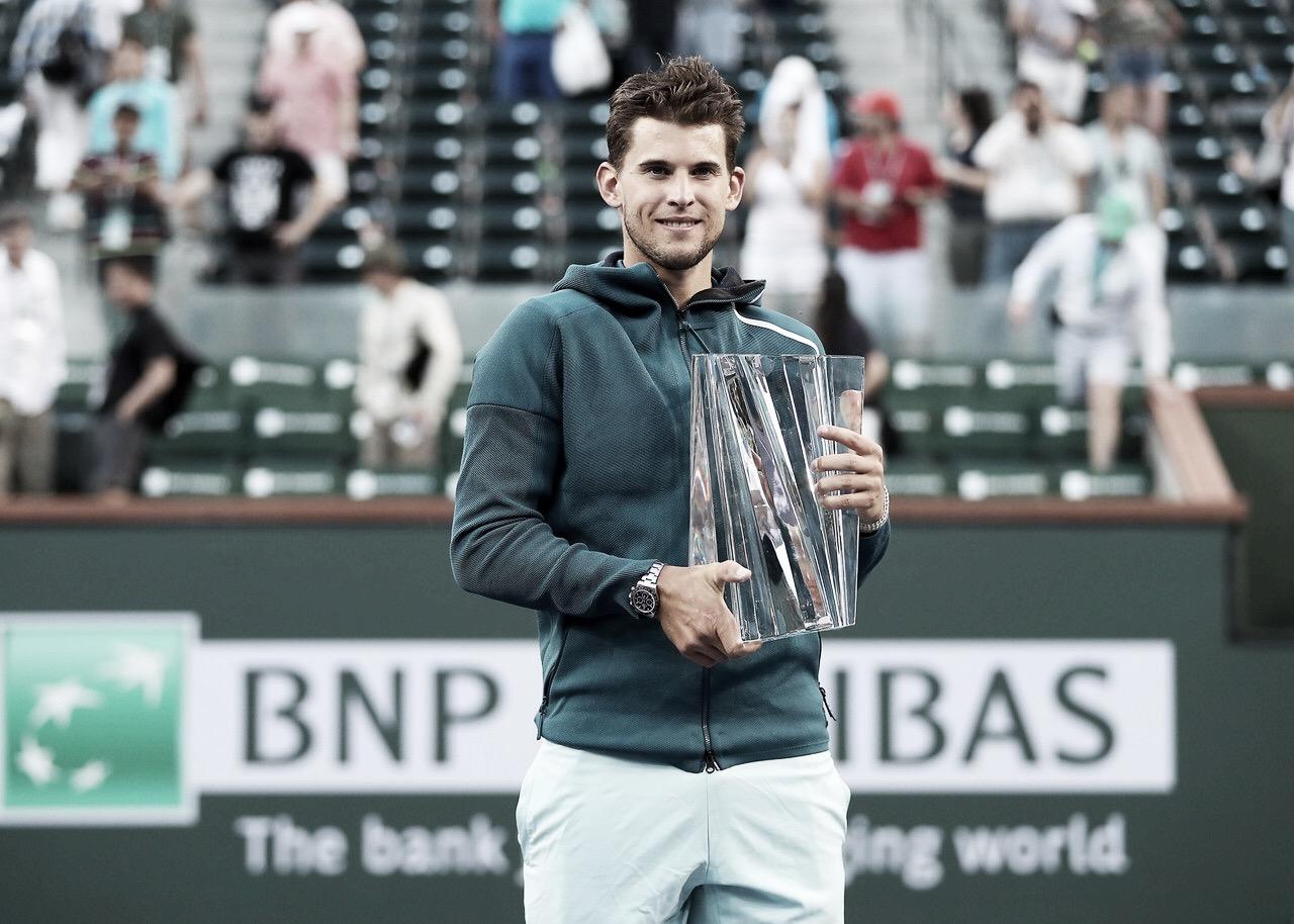 Thiem vence Federer de virada e é campeão do Masters 1000 de Indian Wells