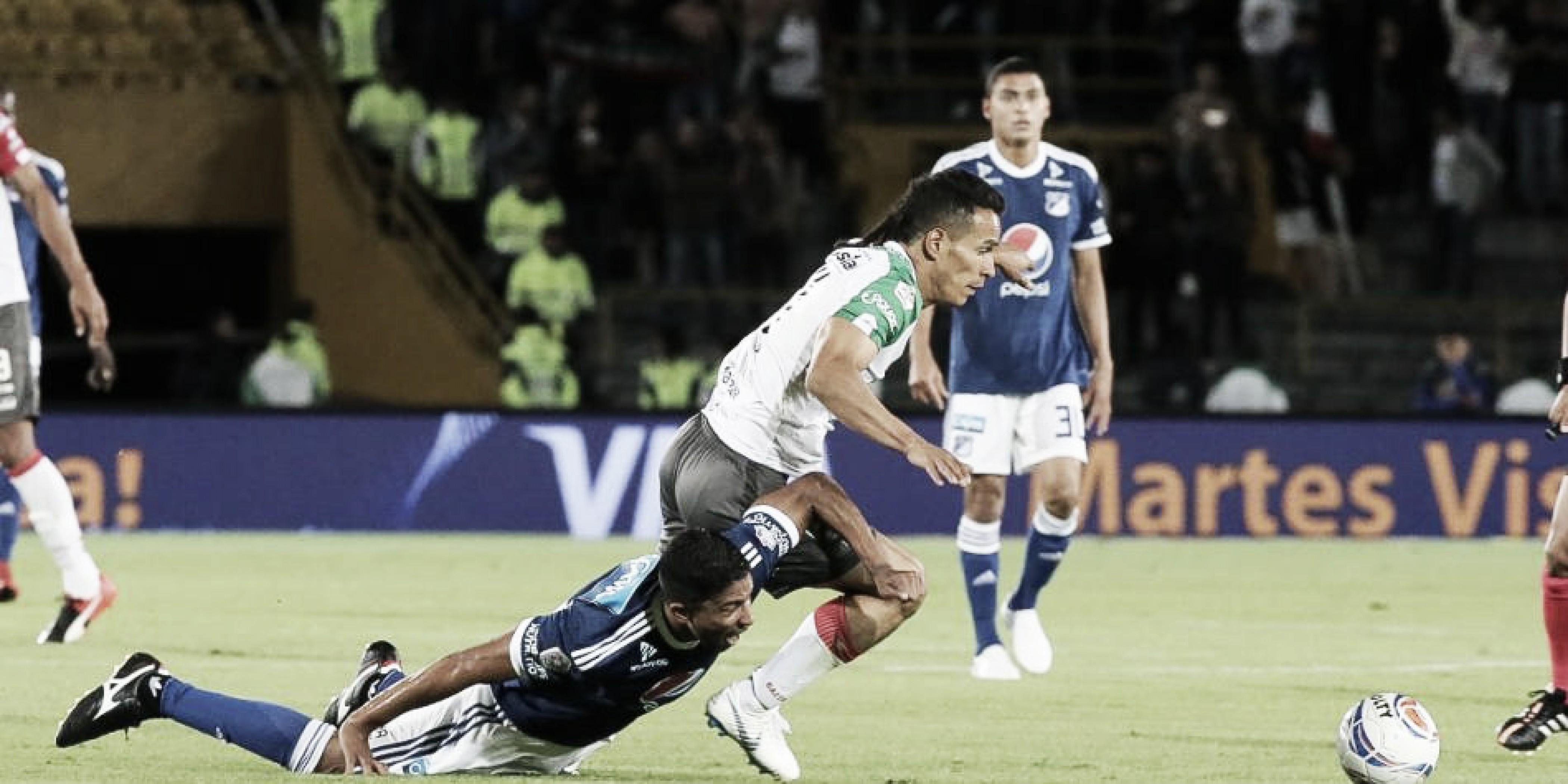 Un aguerrido Once Caldas le sacó un empate a Millonarios en Bogotá