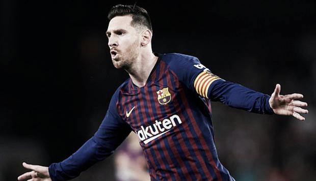 De la mano de Messi el Barcelona goleó