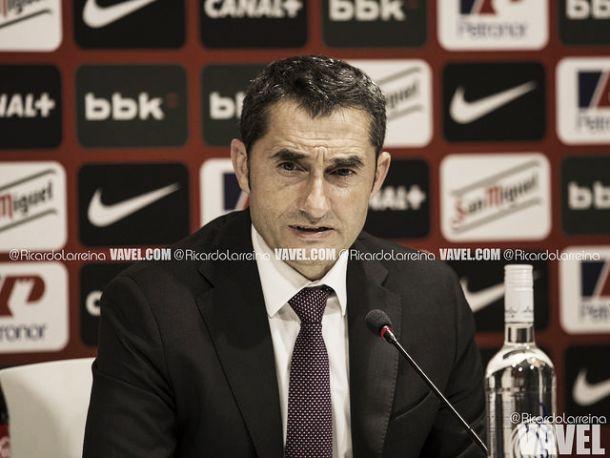 Valverde: ''Los partidos entre Athletic y Atlético son siempre apasionantes''