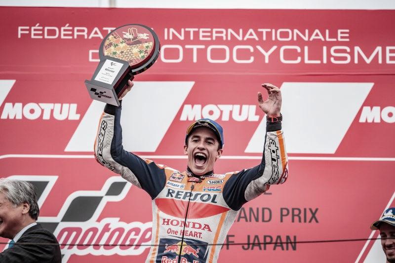 Márquez reafirma su título en Motegi, Quartararo mejor rookie y Dovizioso consigue el 100