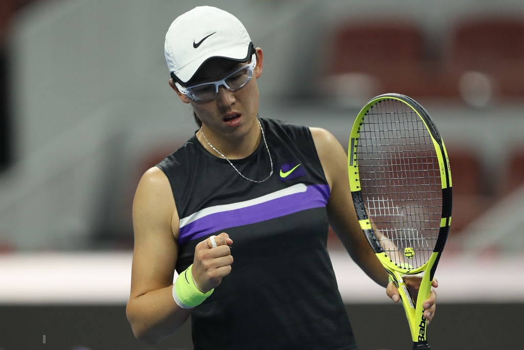 Zheng Saisai receives a wildcard into the WTA Elite Trophy