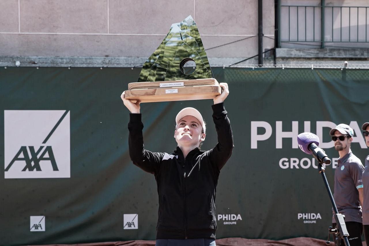 Zidansek vira contra Burel e assegura primeiro título da carreira em Lausanne