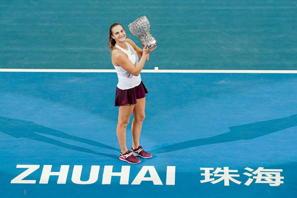 WTA Elite Trophy: Superb Sabalenka strolls past Bertens to claim biggest career title