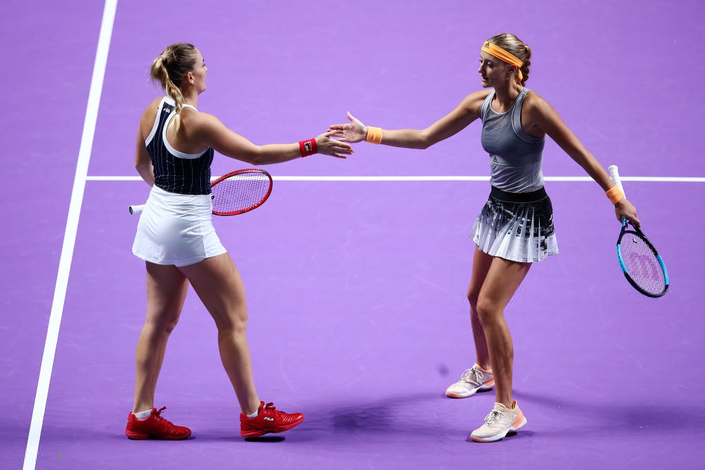 WTA Finals: Defending champions Babos and Mladenovic off to fantastic start