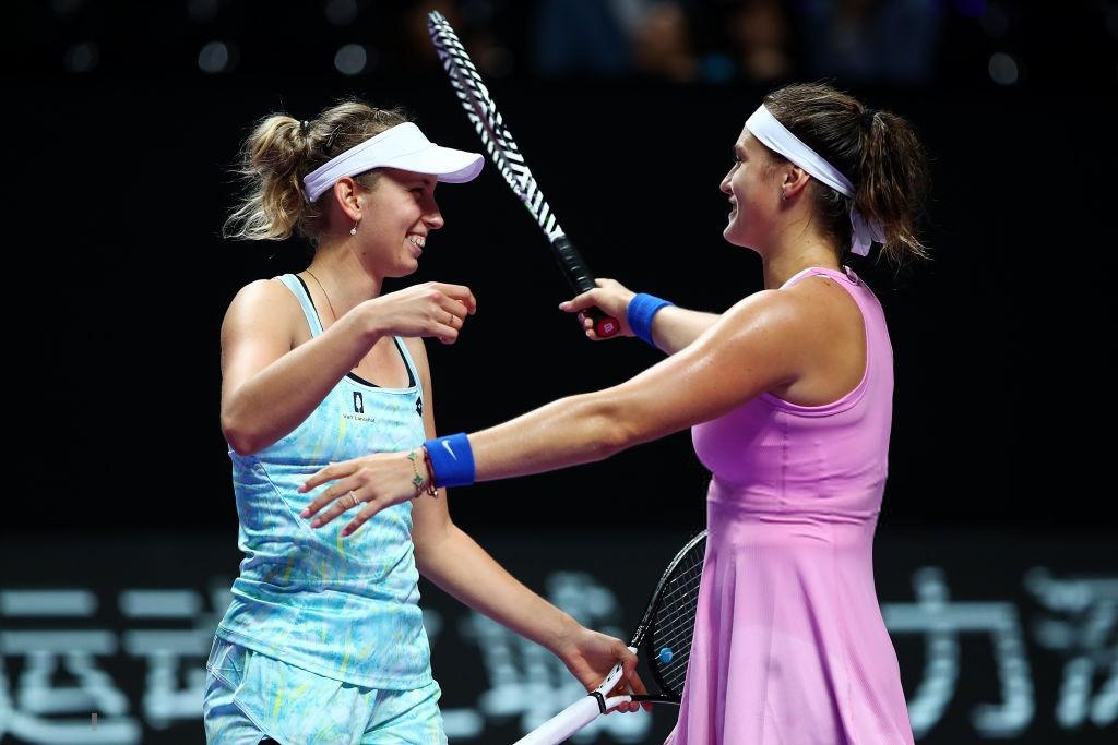 WTA Finals: Mertens and Sabalenka survive tough test