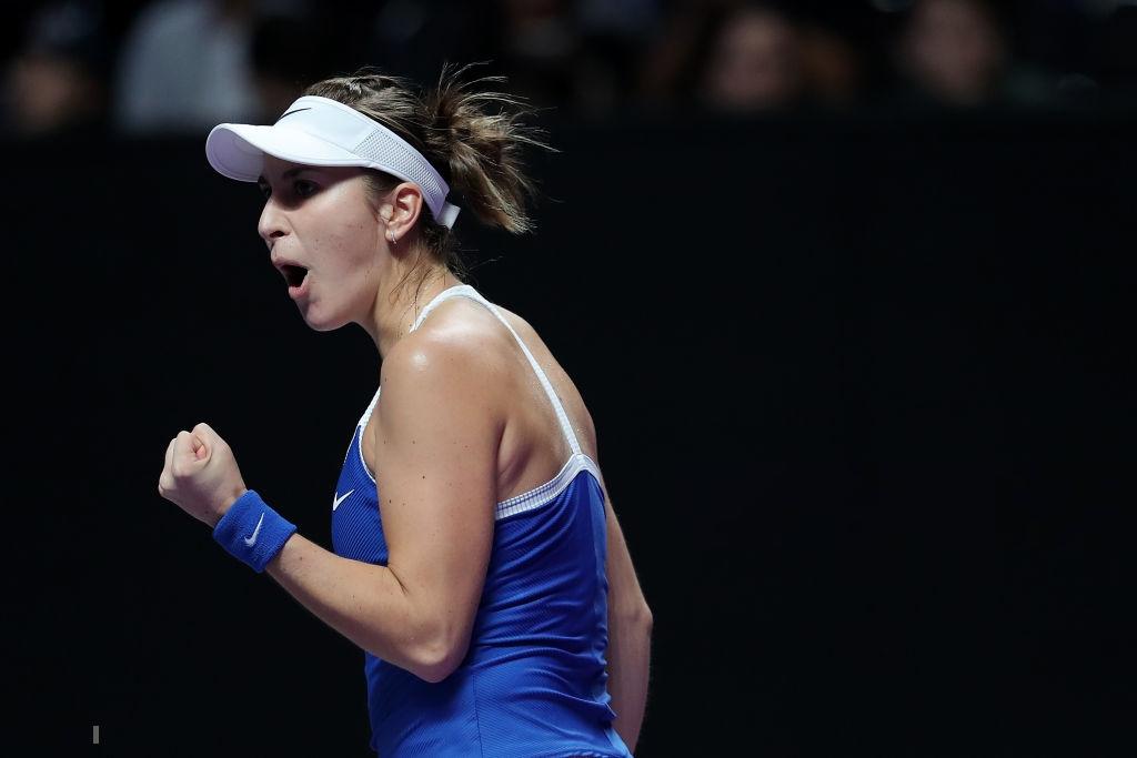 WTA Finals: Belinda Bencic moves into the final after Bertens retirement