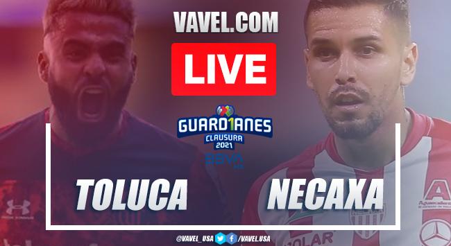 Goals and highlights:Toluca 2-0 Necaxa in Liga MX Guard1anes 2021