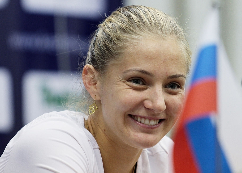 Former world number five Anna Chakvetadze of Russia, pictured here during a press conference at the Kremlin Cup 2010. Photo: Oleg Nikishin