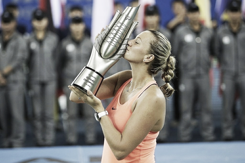 WTA Weekly Ledger: Petra Kvitova charges to first title of the year in Wuhan, Kristyna Pliskova wins Tashkent