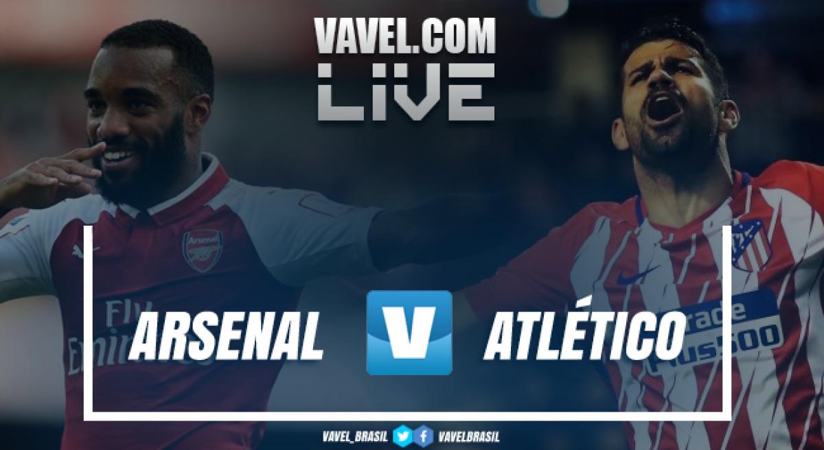 Resultado Arsenal x Atlético de Madrid na Europa League (1-1)