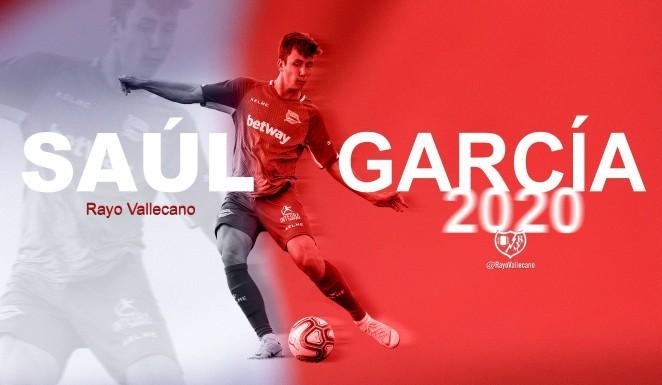 Saúl García, nuevo jugador del Rayo Vallecano