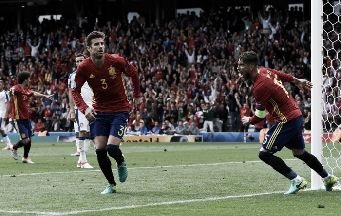 Spagna, Piqué salvatore: battuta 1-0 in extremis la Repubblica Ceca