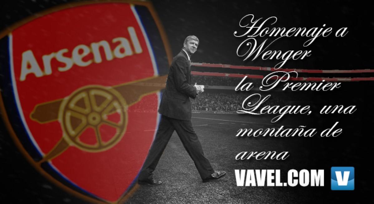 Homenaje a Wenger: la Premier League, una montaña de arena