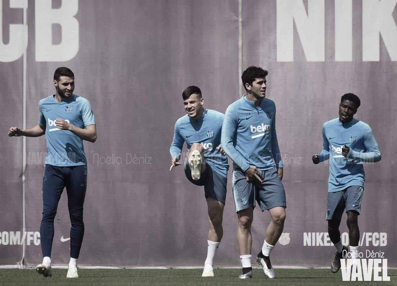 El Barça se entrena con cinco del filial
