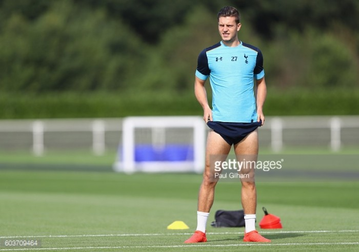 Kevin Wimmer willing to wait for some game time but admits he is 'down on expectations'