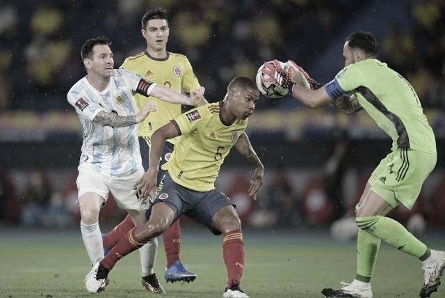 Los datos que dejó el empate agónico entre Colombia y Argentina