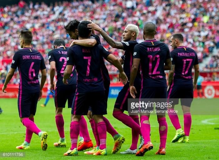 Sporting Gijon 0-5 Barcelona: Catalans run riot against Gijon in five star performance