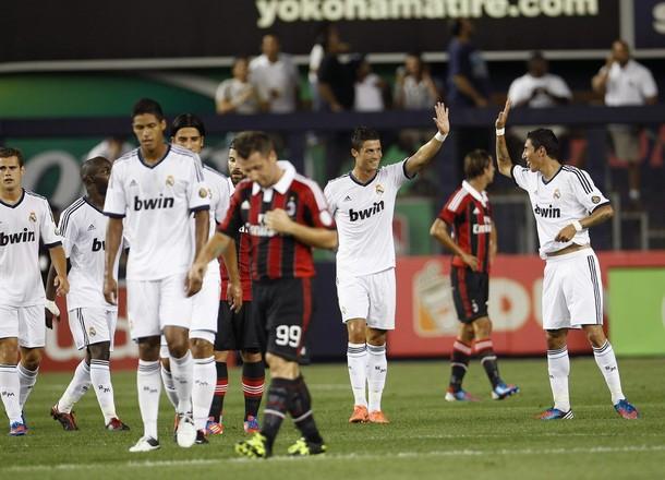 Exhibición goleadora del Real Madrid ante el Milan
