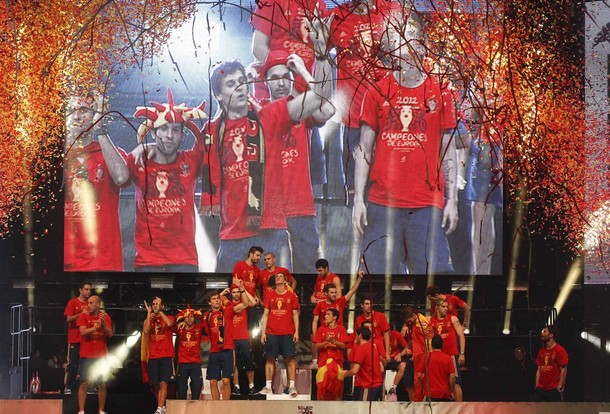La Selección celebra la conquista de la Eurocopa en Cibeles