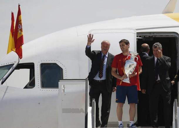 Los campeones de Europa ya están en casa