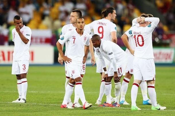Puntuaciones de Inglaterra en la Eurocopa 2012