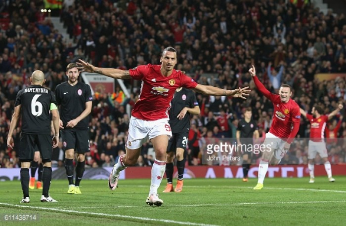 Manchester United 1-0 FC Zorya Luhansk: Ibrahimovic nets winner as Mourinho's men get off the mark