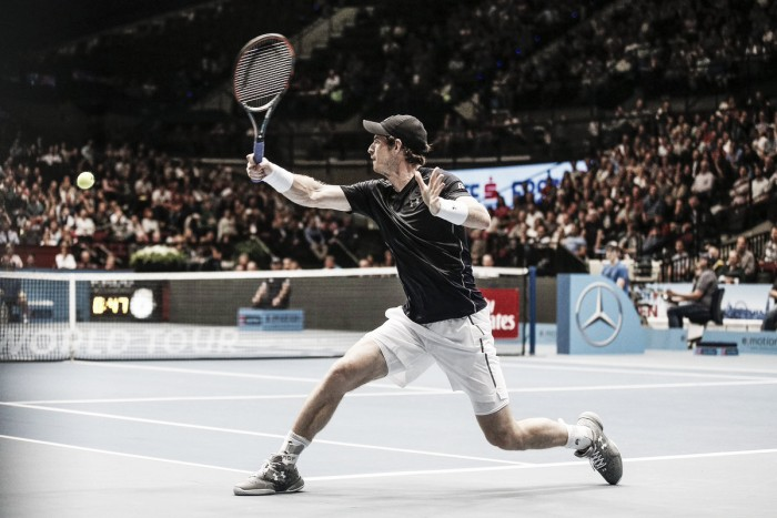 ATP Vienna: Andy Murray battles from a set down to defeat Gilles Simon in marathon match