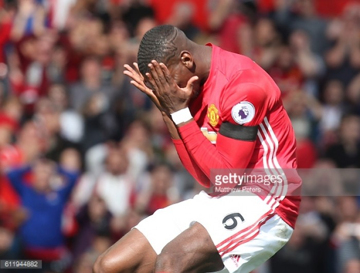 Paul Pogba blames position for poor form at Manchester United