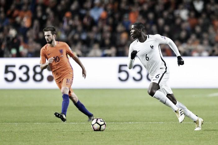 """Após marcar gol da vitória sobre Holanda, Pogba rebate criticas: """"Tento manter o foco no campo"""""""